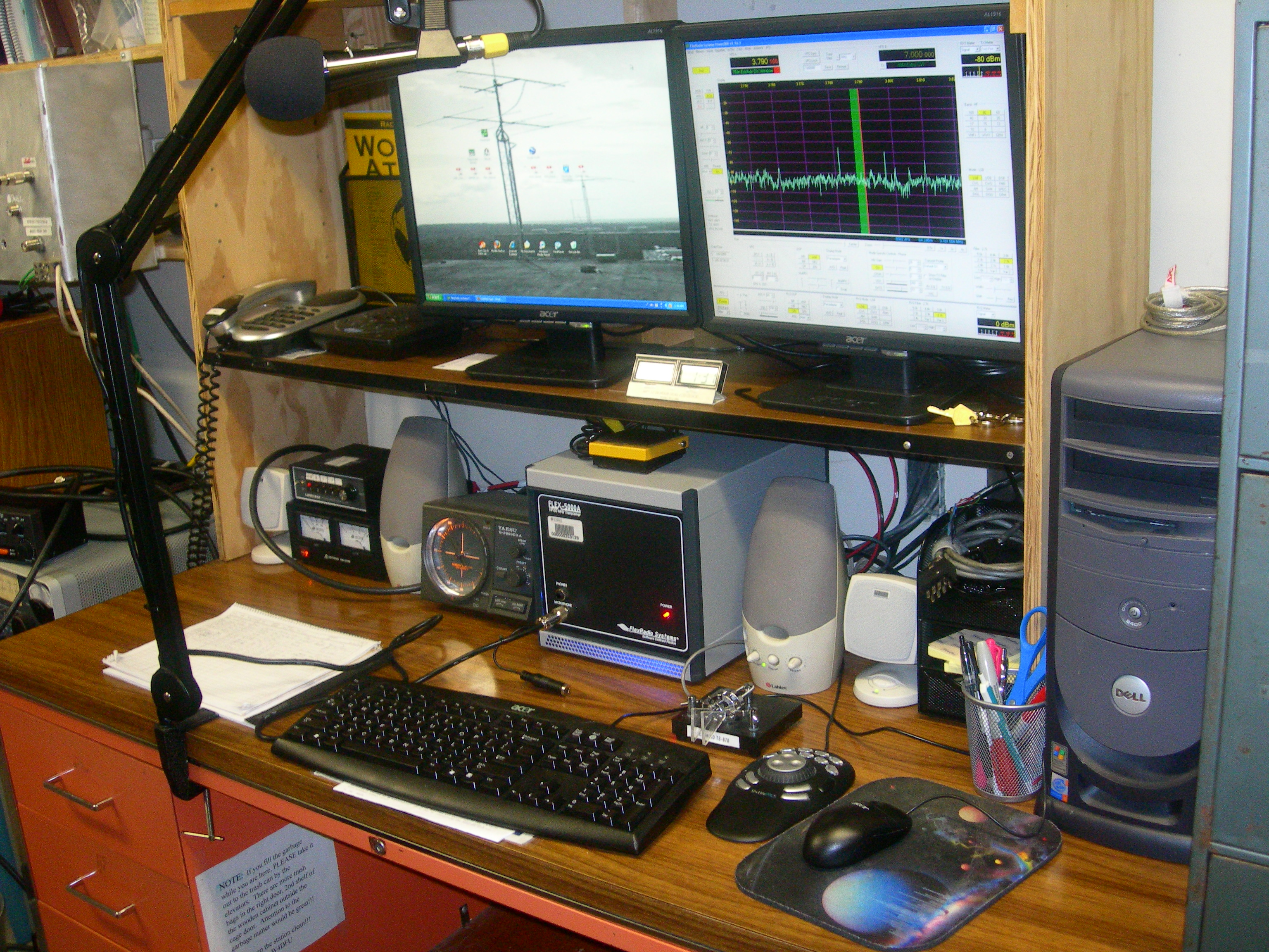 Equipment at The Gator Amateur Radio Club (W4DFU) at the University